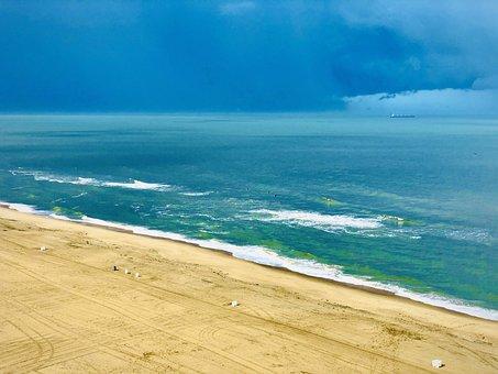 Atlantic Ocean, Beach, Atlantic, Ocean, Sea, Water