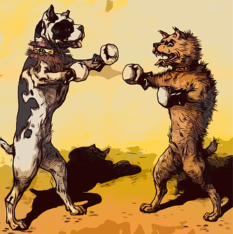 Dogs, Boxing, Boxers, Vintage, Artwork, Pets, Fighting