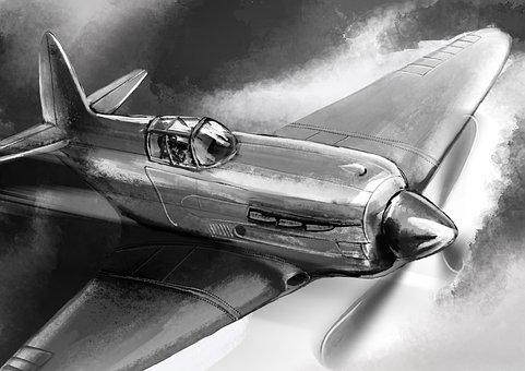 Victory Day, War Plane, Plane Victory, Fighter, Flight