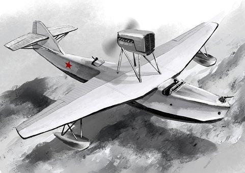 Victory Day, War Plane, Plane Victory, Water, Flight