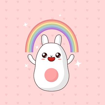 Kawaii, Cute, Rabbit, Cartoon, Child, Japanese, Kids