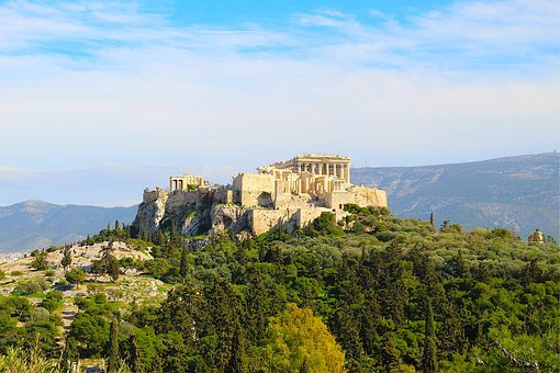 Athens, Greece, Acropolis, Parthenon, Temple, Athena