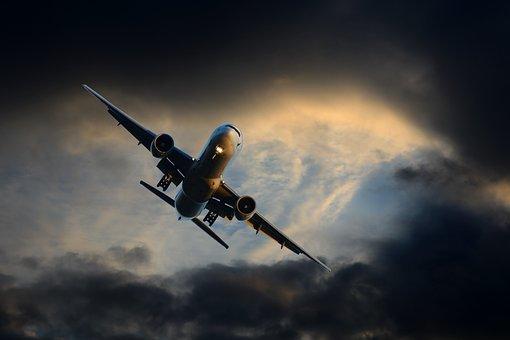 Transport, Aircraft, Night, Travel