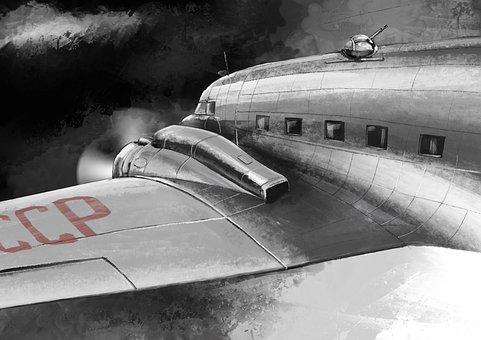Victory Day, War Plane, Plane Victory, Cargo, Flight