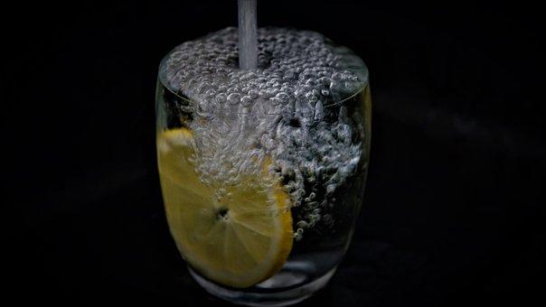 Water, Slice Of Lemon, Water Glass, Drink A Lot, Health