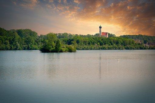 Lake, Reservoir, Nature, Landscape, Bergsee, Water