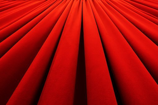 Curtain, Drape, Fabric, Red, Cloth, Fold, Drapes, Wave