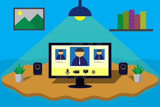 Video Conference, Online Office, Webinar, E-learning