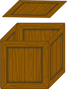 Wooden, Box, Opened, Opening, Lid