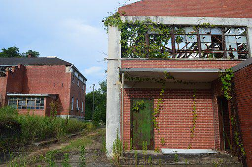 School, Abandoned, Building, Old, Architecture, Ruin