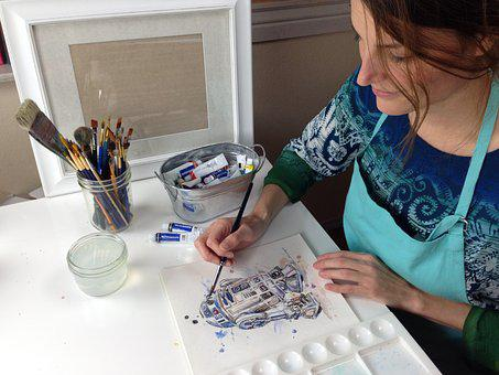 Artist, Art, Paint, Creative, Creativity, Woman, Female
