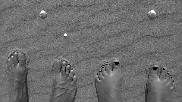 Together, Love, Boy, Girl, Sand, Beach, Seashell, Man