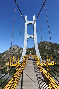 Bridge, Suspension Bridge, Mountain, Earthquake