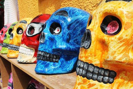 Colombia, Boyacá, Ráquira, Color, Skull And Crossbones