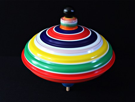 Roundabout, Movement, Turn, Colorful, Color, Tin Toys