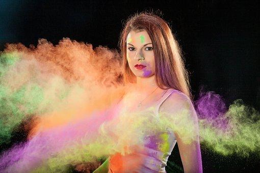 Woman, Girl, Shooting, Photography, Paint, Color