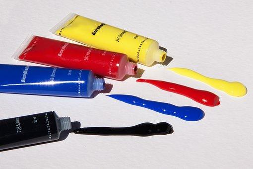 Acrylic Paints, Color, Basic Colors, Tube, Colorful