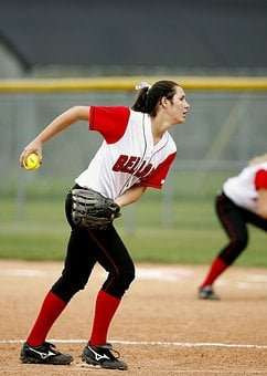Softball, Pitcher, Girl, Game, Field, Competition