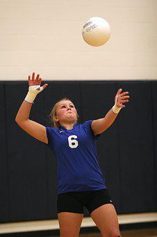 Volleyball, Action, Serve, Female, Player, Ball