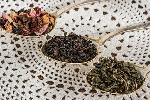 Tea Leaf, Black Tea, Green Tea, Fruit Tea, Teaspoon