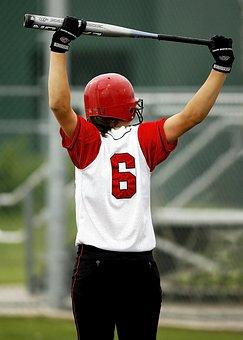 Softball, Batter, Girl, Teen, Game, Competition, Female