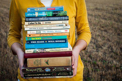 Books, Reading, Girl, People, Education, Read