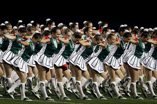 High School, Drill Squad, Drill Team, Girls