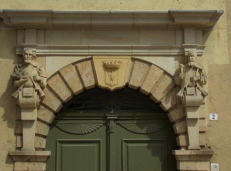House, Facade, Sculpture, Historic Architecture Art