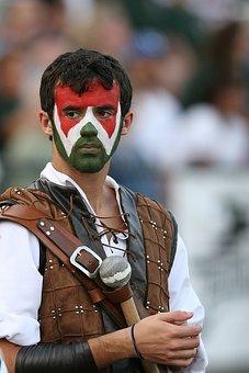 Mascot, Warrior, High School Football, Male, Character