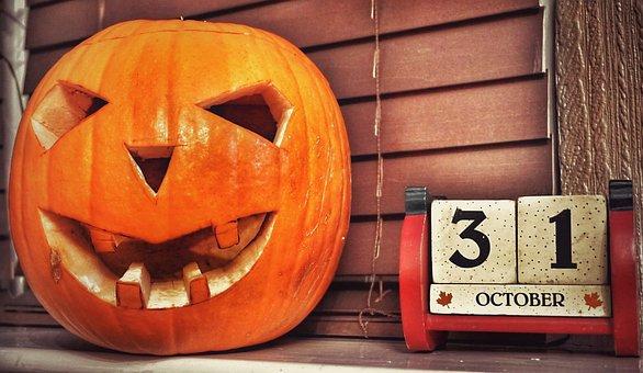 Halloween, Pumpkin, Jack-o-lantern, October, Orange