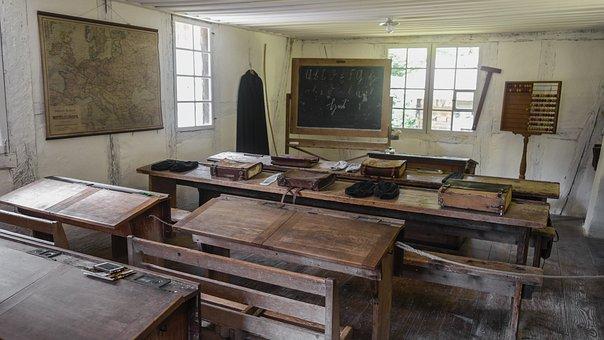 Classroom, School, Old Classroom, Blackboard, Workshop