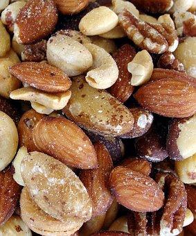 Nuts, Almonds, Cashews, Pecans, Food, Kernel