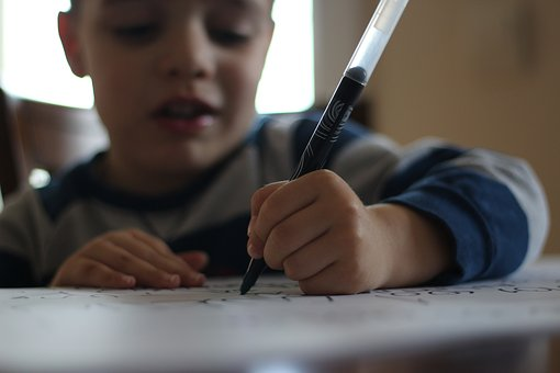 Pen, Child, Write Articles, Drawing, Process, Learning