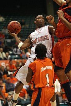 Basketball, College, Player, Shooting, Shot, Defenders