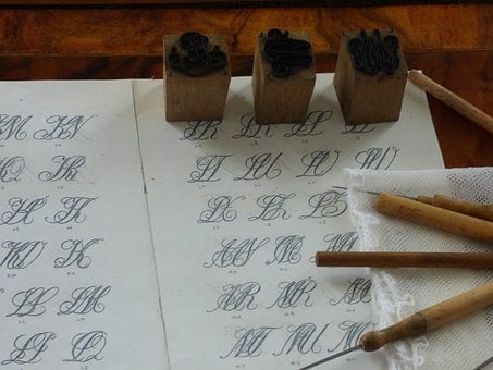 Writing, Cutting, Inkwell, Calligraphy, Font, Print