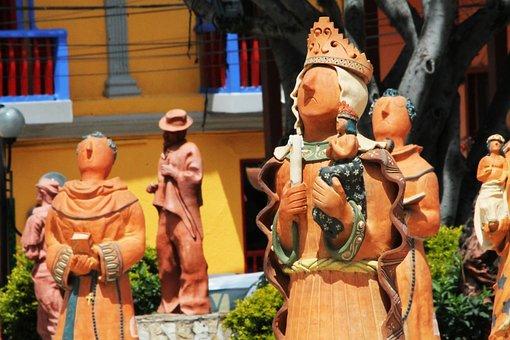 Colombia, Boyacá, Ráquira, Color, Park, People, Andean