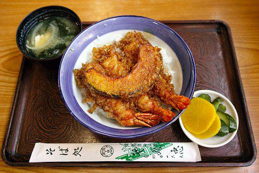 Shrimp Tempura, Japanese Food, Meal, Set Meal, Rice