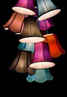 Lamps, Shining, Lampshade, Screen, Deco, Living Room