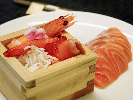 Sashimi, Salmon Fish, Ikura, Food, Seafood, Japanese