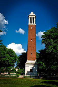University Of Alabama, Denny Chimes, Sky, Clouds