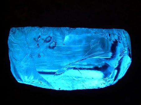 Slag Glass, Blue Slag, Glass Rock, Blue Slag Glass