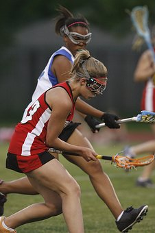 Lacrosse, Girls, Action, Sport, Game, Competition