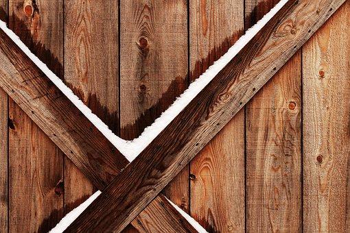 Barn, Wood, Winter, Snow, Texture