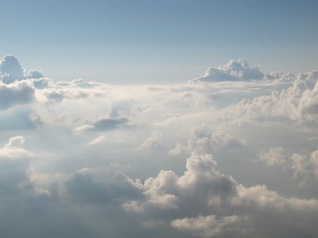 The Clouds, Clouds, Sky, Heaven, White, Thick
