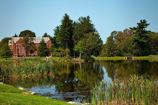 University Of Connecticut, Buildings, Pond, Lake