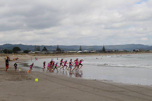 Whangamata, New Zealand, North Island, Beach, Landscape