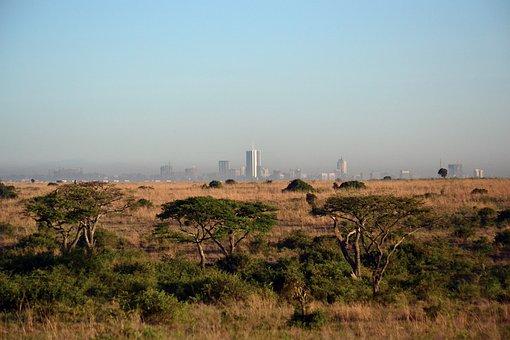 Nairobi, Kenya, Africa Cityscape, Savanna