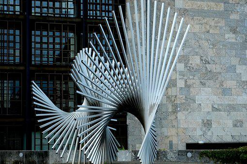 Sculpture, Artwork, Art, Metal, Aluminium, Monument