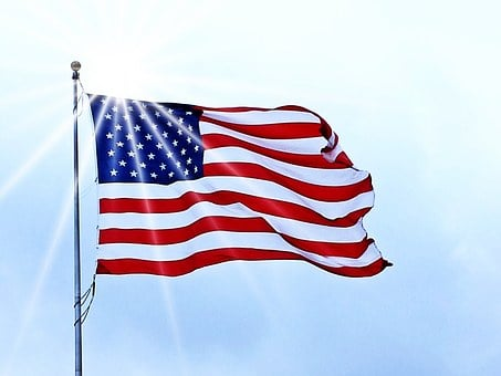 Usa Flag, Flag, Usa, American, United, Blue, White, Red