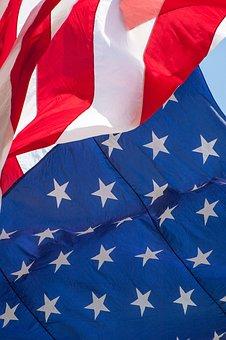 American Flag, Flag, Waving, American, Usa